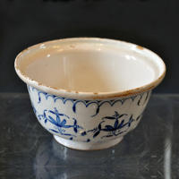 Faience Butter Tub