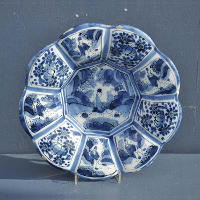 Scalloped Faience Dish